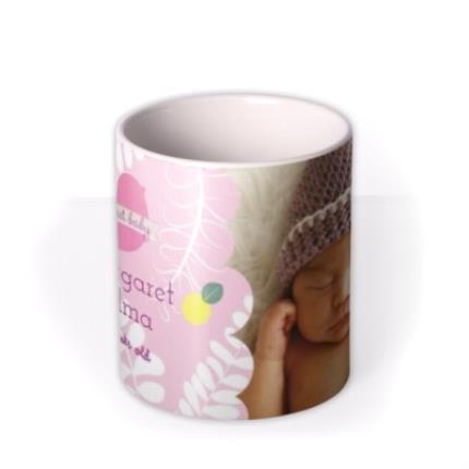Mugs - New Baby Pink Photo Upload Mug - Image 3