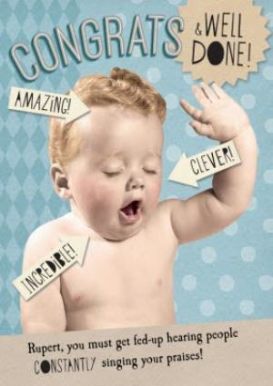 Greeting Cards - Amazing, Congrats, And Well Done Personalised Card - Image 1