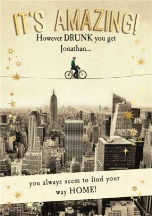Find Your Way Home Personalised Happy Birthday Card