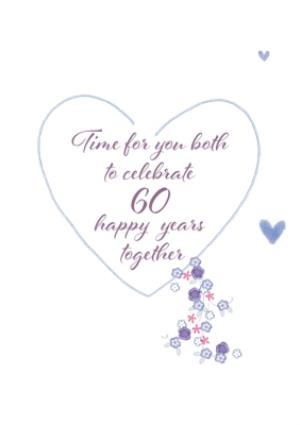 Greeting Cards - Anniversary Card - Happy Diamond Wedding Anniversary - Image 3