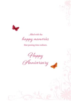 Greeting Cards - Anniversary Card - Mum & Dad with love and best wishes - Image 3