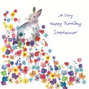 Rabbit Illustration Greeting Card