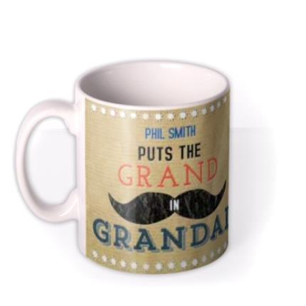Mugs - Father's Day Grand in Grandad Photo Upload Mug - Image 1
