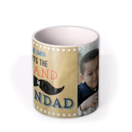 Mugs - Father's Day Grand in Grandad Photo Upload Mug - Image 3