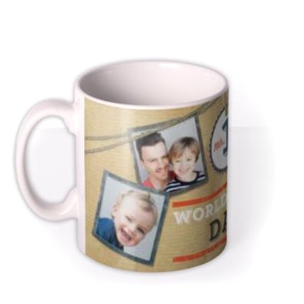 Mugs - Father's Day No.1 Dad Brown Photo Upload Mug - Image 1