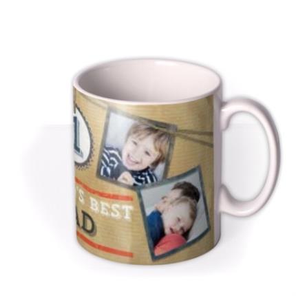 Mugs - Father's Day No.1 Dad Brown Photo Upload Mug - Image 2