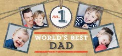 Mugs - Father's Day No.1 Dad Brown Photo Upload Mug - Image 4