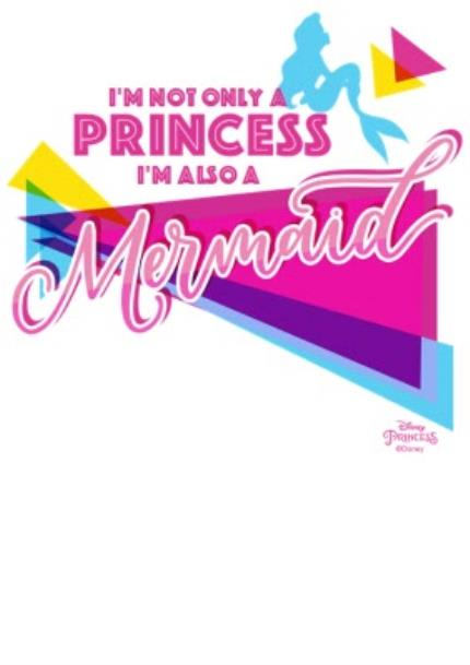 T-Shirts - Disney Princess Ariel Mermaid Neon White T-Shirt - Image 4