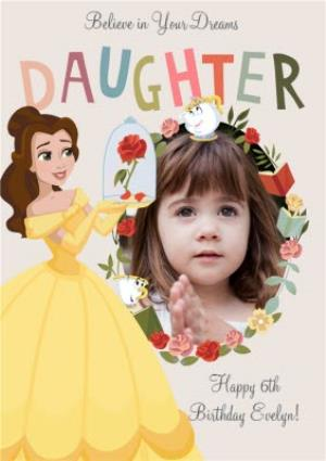 Disney Princess Belle Photo Upload Birthday Card