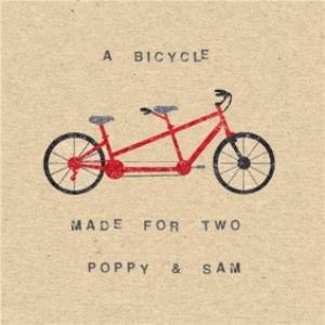 Greeting Cards - A Bicycle Made For Two Personalised Happy Anniversary Card - Image 1