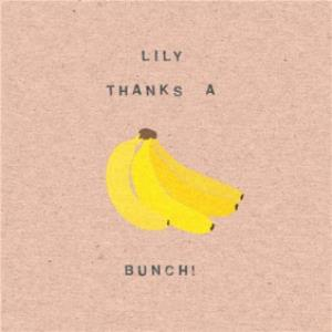 Greeting Cards - Banana Thanks A Bunch Personalised Thank You Card - Image 1