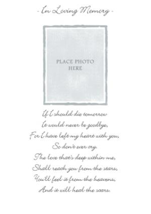 Greeting Cards - In Loving Memory Photo Upload Card - Image 1