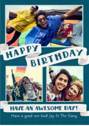 Greeting Cards - Birthday card - photo upload card - Image 1