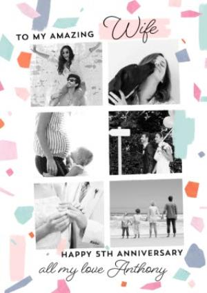 Greeting Cards -  Anniversary photo upload Card - To My Amazing Wife  - Image 1