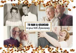 Greeting Cards - 50th Anniversary Photo Upload Card For Nan And Grandad  - Image 1