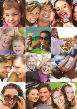 Greeting Cards - 12 Photo Grid Card - Image 1