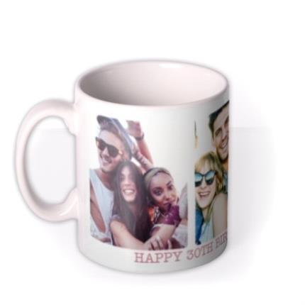 Mugs - Rounded Edge Trio Photo Upload Mug - Image 1