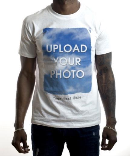 T-Shirts - Rough Edged Rectangle Large Photo Upload T-Shirt - Image 2