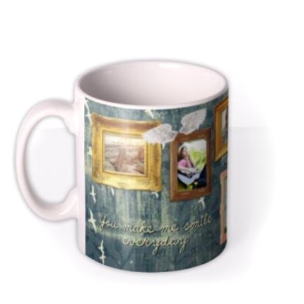 Mugs - Gold Frames Personalised Photo Upload Mug - Image 1