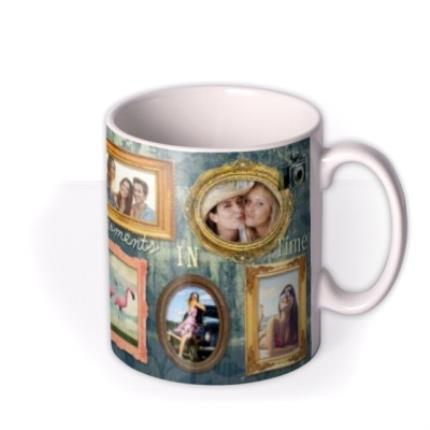 Mugs - Gold Frames Personalised Photo Upload Mug - Image 2
