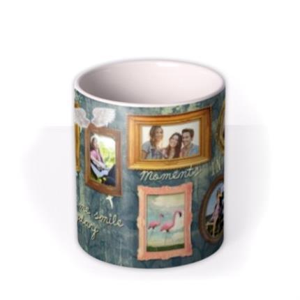 Mugs - Gold Frames Personalised Photo Upload Mug - Image 3