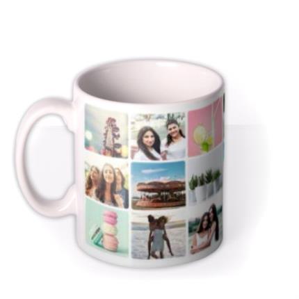 Mugs - 18 Photo Grid Photo Upload Mug - Image 1