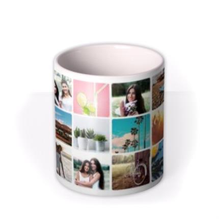 Mugs - 18 Photo Grid Photo Upload Mug - Image 3