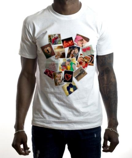 T-Shirts - Heart Collage Photo Upload T-Shirt - Image 2