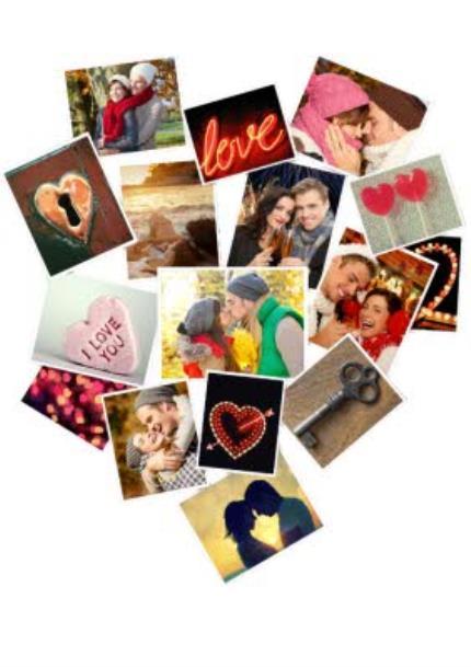 T-Shirts - Heart Collage Photo Upload T-Shirt - Image 4