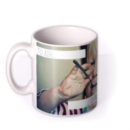 Mugs - Image Photo Upload and Personalised Text Mug - Image 1