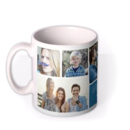 Mugs - Six Picture Photo Upload and Personalised Text Mug - Image 1