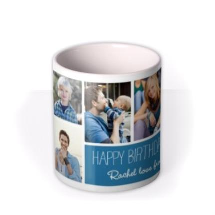 Mugs - Six Picture Photo Upload and Personalised Text Mug - Image 3