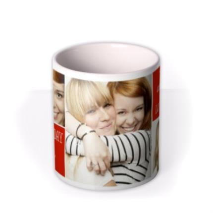 Mugs - Image Trio Photo Upload and Personalised Text Mug - Image 3