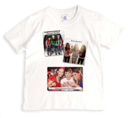T-Shirts - Caption Photo Upload T-shirt - Image 1