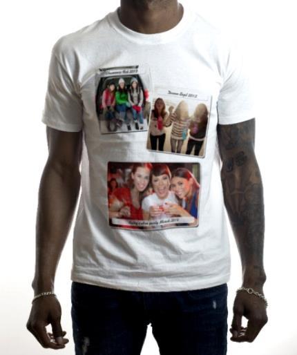 T-Shirts - Caption Photo Upload T-shirt - Image 2