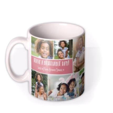 Mugs - Happy Birthday Pink 9 Photo Upload Mug - Image 1