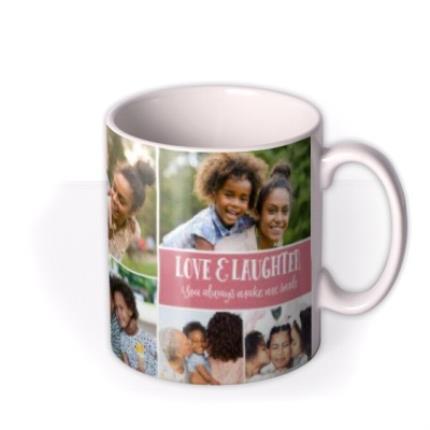 Mugs - Happy Birthday Pink 9 Photo Upload Mug - Image 2