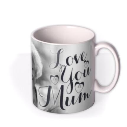 Mugs - Mother's Day Calligraphy Hearts Photo Upload Mug - Image 2