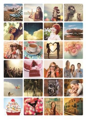 Greeting Cards - 24 Photo Birthday Upload Card - Image 1