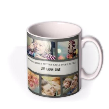 Mugs - Live Laugh Love Photo Upload Mug - Image 2