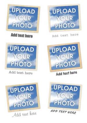 Greeting Cards - Instant Photo Personalised Multi Photo Upload Birthday Card - Image 1