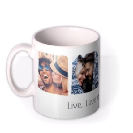 Mugs - Photo upload mug - live, love and laughter - Image 1