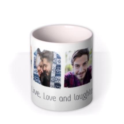 Mugs - Photo upload mug - live, love and laughter - Image 3