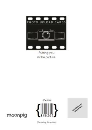 Greeting Cards - Black Script Lettering Fantastic Son Photo Card - Image 4