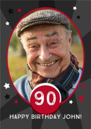 Greeting Cards - 90th Birthday Photo Upload Card - Image 1