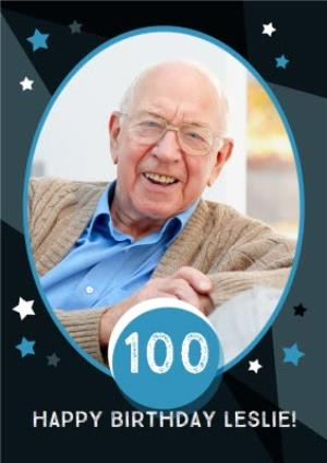 Greeting Cards - 100th Birthday Photo Upload Card - Image 1