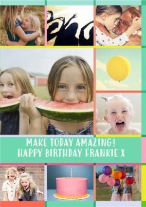 Greeting Cards - Birthday 9 Photo Upload Card - Image 1