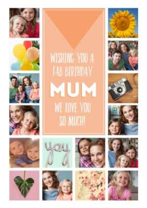 Greeting Cards - Birthday Card - Photo Upload Card - Mum - Image 1