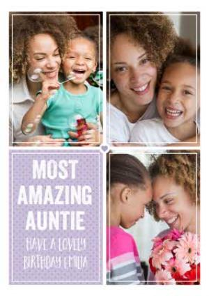 Greeting Cards - Birthday Photo Upload Card  - Most Amazing Auntie - Image 1