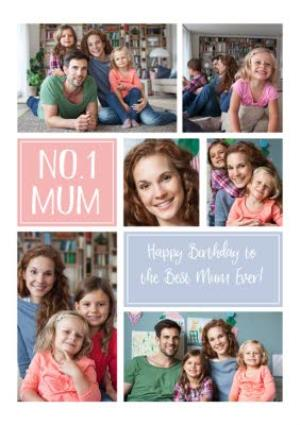 Greeting Cards - Birthday Card - Photo Upload Card - No.1 Mum - Image 1